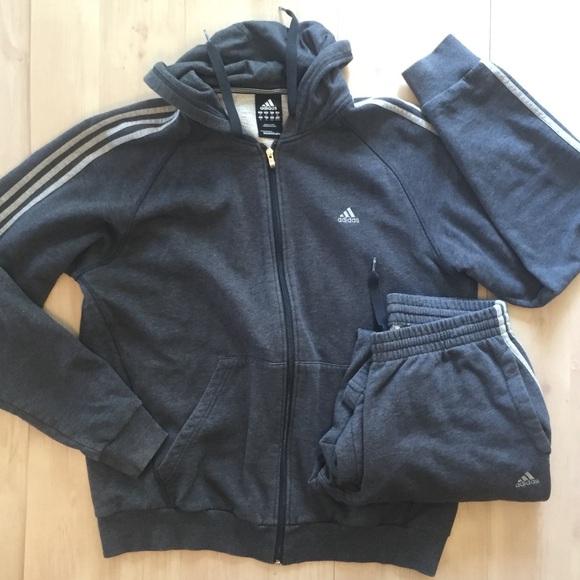 nett Adidas Men Essential 3S B Full Zip Shirts LS Sweater